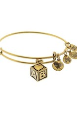 Alex and Ani Baby Block, Gold FINAL SALE