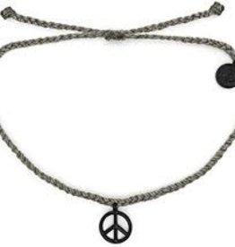 PuraVida 30% OFF PuraVida, Peace Sign Bracelet, Black/Grey FINAL SALE