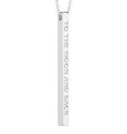 MantraBand MantraBand Necklace, To The Moon And Back, Silver