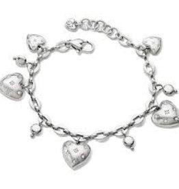 Brighton Brighton, Stellar Heart Charm Bracelet Silver OS
