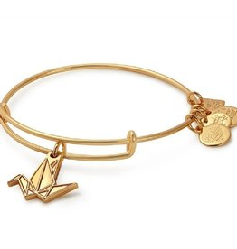 Alex and Ani Charity By Design, Paper Crane, Shiny Gold FINAL SALE