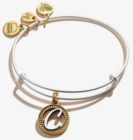 Alex and Ani Two-Tone Initials