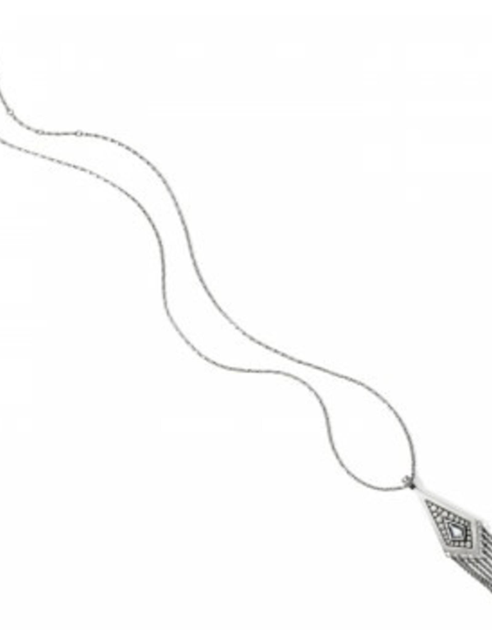 Brighton Brighton, Pebble Disc Convertible Fringe Necklace