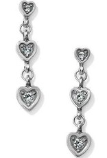 Brighton Brighton, Meridian Love Notes Post Drop Earrings; Size : Silver