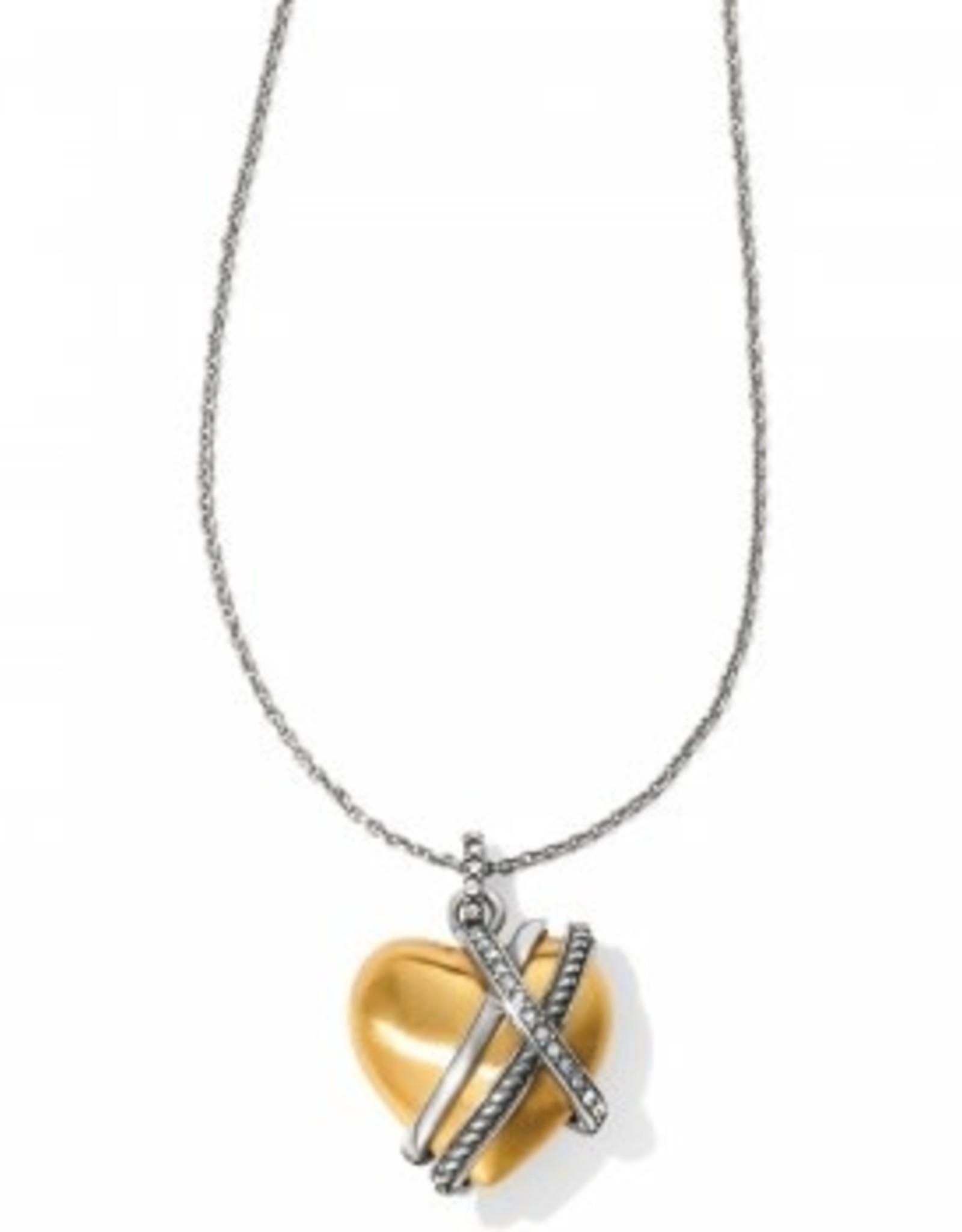 Brighton Brighton, Neptune's Rings Golden Heart Necklace