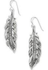 Brighton Brighton, Contempo Ice Feather French Wire Earrings