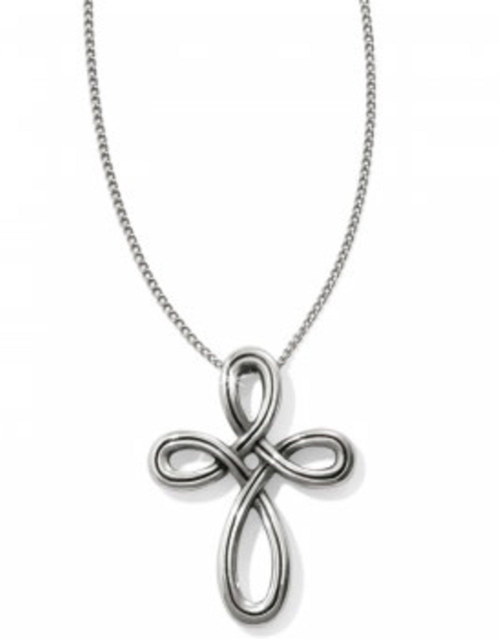 Brighton Brighton, Interlock Petite Cross Necklace