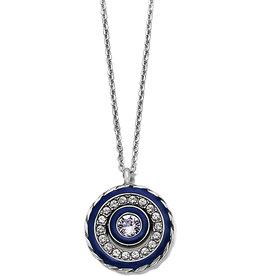 Brighton Brighton, Halo Eclipse Petite Necklace Silver-Blue