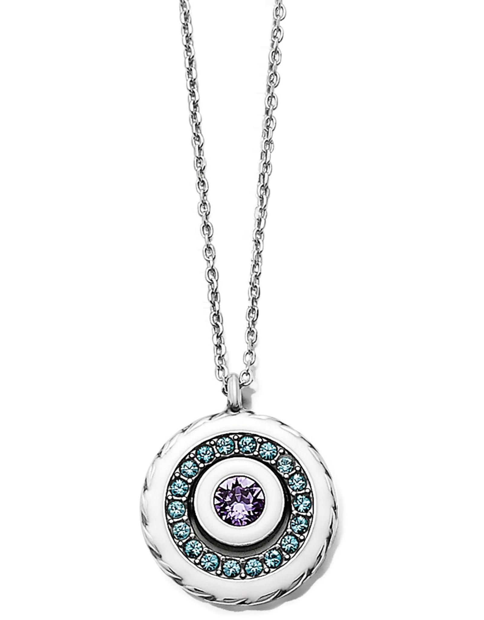 Brighton Brighton, Halo Light Petite Necklace Silver-White