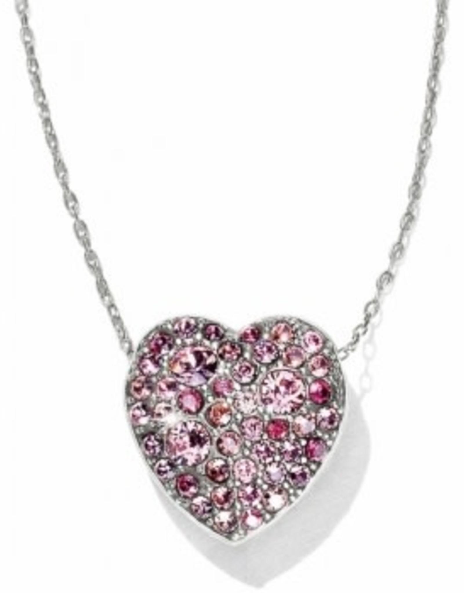 Brighton Brighton, Anatolia Heart Reversible Necklace, Pink