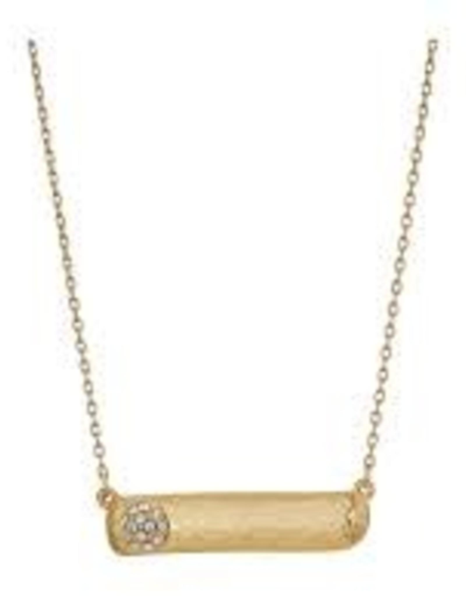 Brighton Brighton, Bilbao Gold Bar Necklace