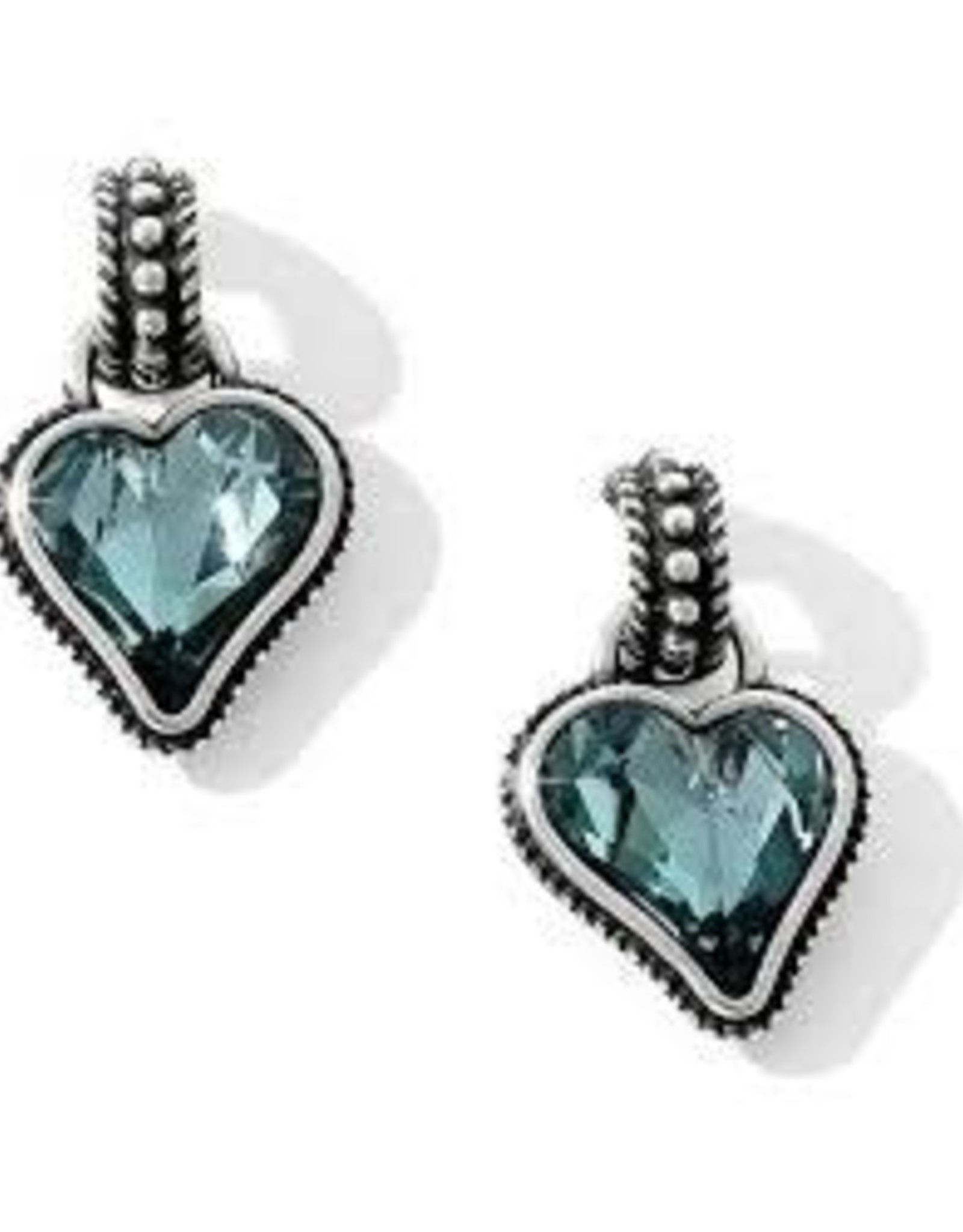Brighton Brighton, Blue Bibi Heart Reversible Earrings