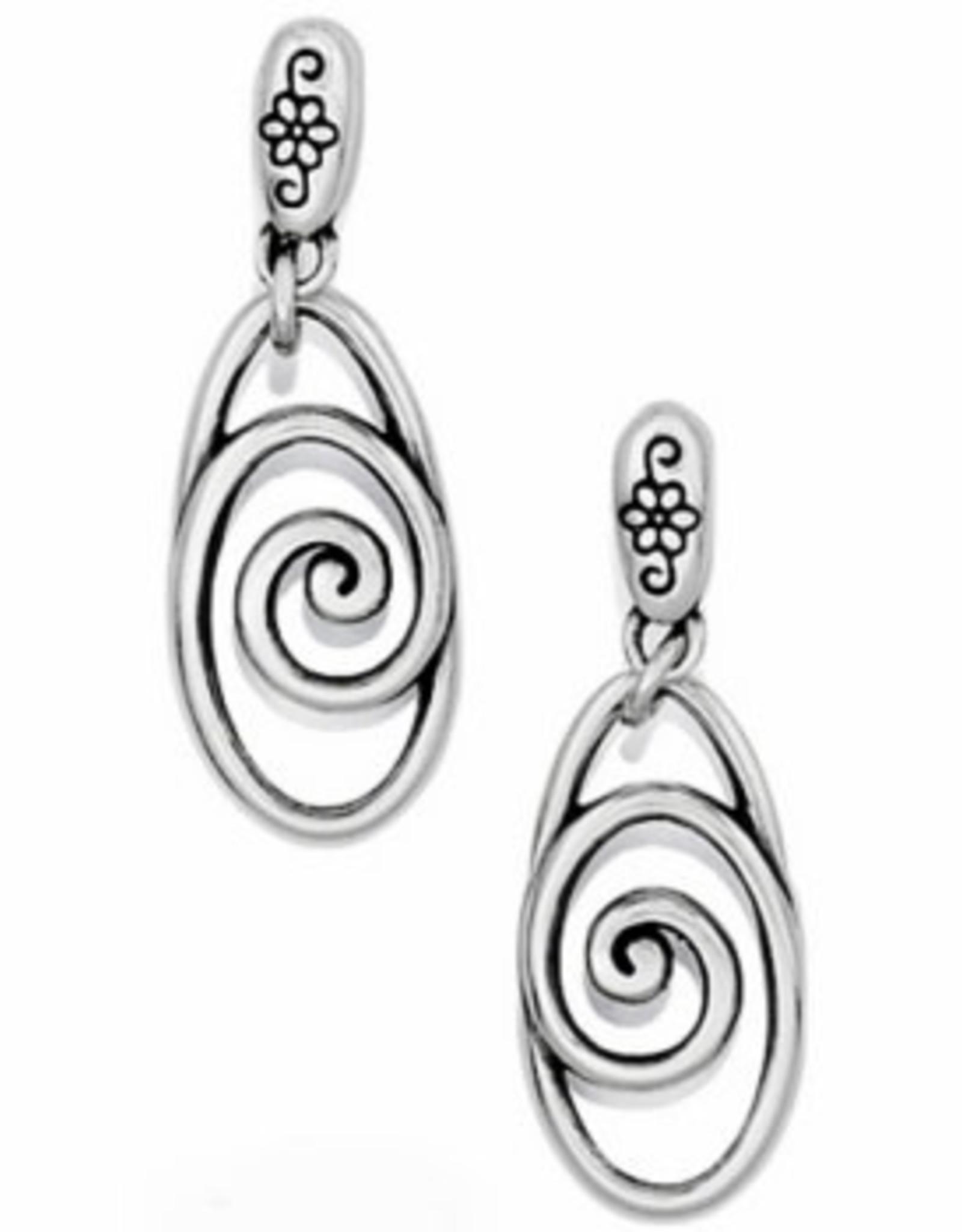 Brighton Brighton, Rock N Scroll Post Drop Earrings silver