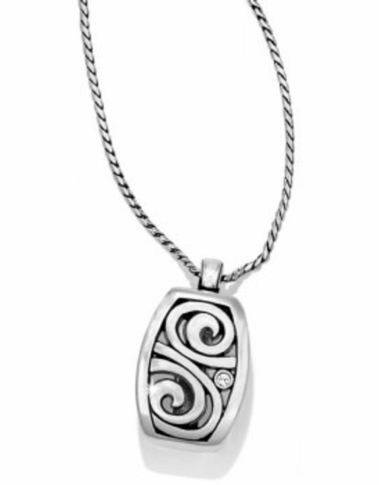 Brighton Brighton, London Groove Badge Clip Necklace silver