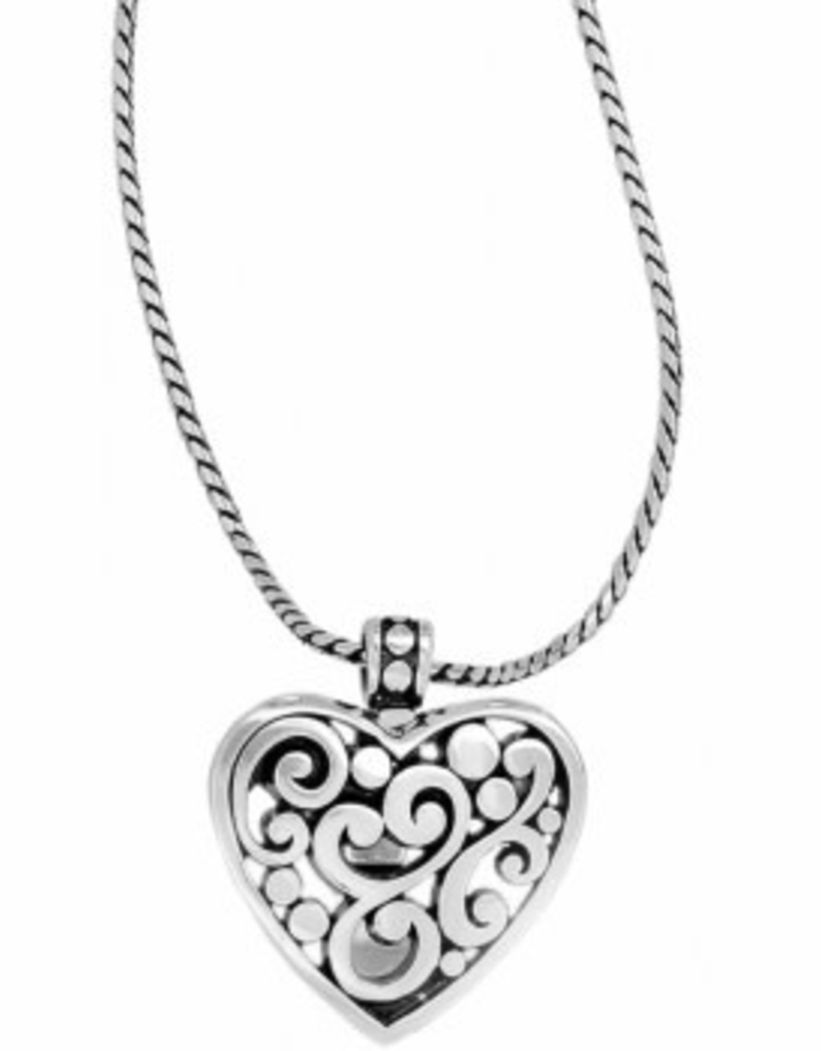 Brighton Brighton, Contempo Heart Badge Clip Necklace