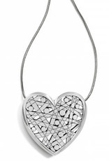 Brighton Brighton, Nazca Heart Necklace, Silver