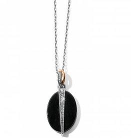 Brighton Brighton, Neptune's Rings Oval Black Agate Reversible Short Necklace