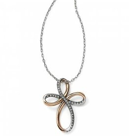 Brighton Brighton, Neptune's Rings Reversible Cross Necklace