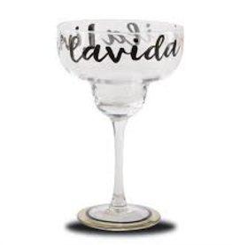 MudPie MudPie, LIVING LA VIDA MARGARITA GLASS (curbside pick up only)