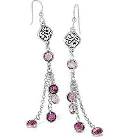 Brighton Brighton, Elora Gems French Wire Earrings, Silver-Blush