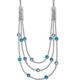 Brighton Brighton, Elora Gems Multi Layer Necklace, Silver-Blues