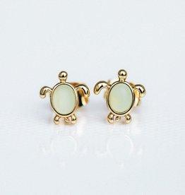 PuraVida PuraVida, Sea Turtle Stud Earrings, Gold