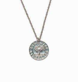 PuraVida PuraVida, Medallion Necklace, Silver