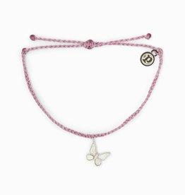 PuraVida PuraVida, Butterfly Bracelet Silver, Lavender