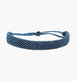 PuraVida PuraVida, Flat Braided Bracelet, Blue