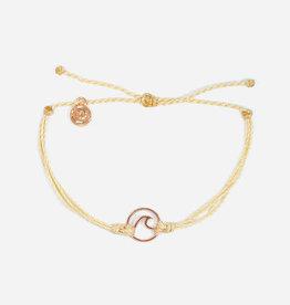 PuraVida PuraVida, Rose Gold Wave Bracelet, Cream