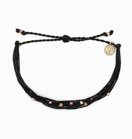 PuraVida PuraVida, Rose Gold Malibu, Bracelet, Black
