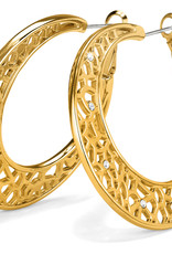 Brighton Brighton, Fiji Sparkle Hoop Earrings, Gold