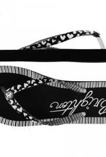 Brighton Brighton, Artsy Flip Flops Black-White