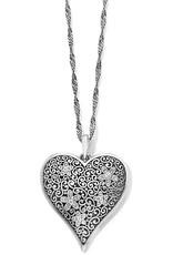 Brighton Brighton, Baroness Fiori Heart Convertible Necklace Silver