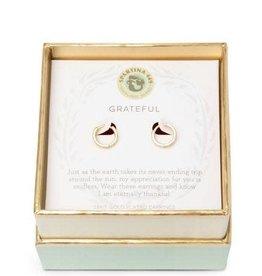 Spartina 449 Spartina 499, SLV Hoop Earrings, Grateful/Ring