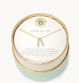 """Spartina 449 Spartina 449, SLV Necklace 18"""", Lean On Me/Double Bars"""