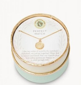 "Spartina 449 Spartina 449, SLV Necklace 18"", Perfect Match/Clam Necklace"