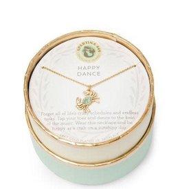 """Spartina 449 Spartina 449, SLV Necklace 18"""", Happy Dance/Crab Necklace"""