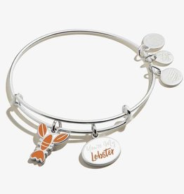 """Alex and Ani FRIENDS, """"You're My Lobster"""" Duo Charm Bangle, Shiny Silver"""