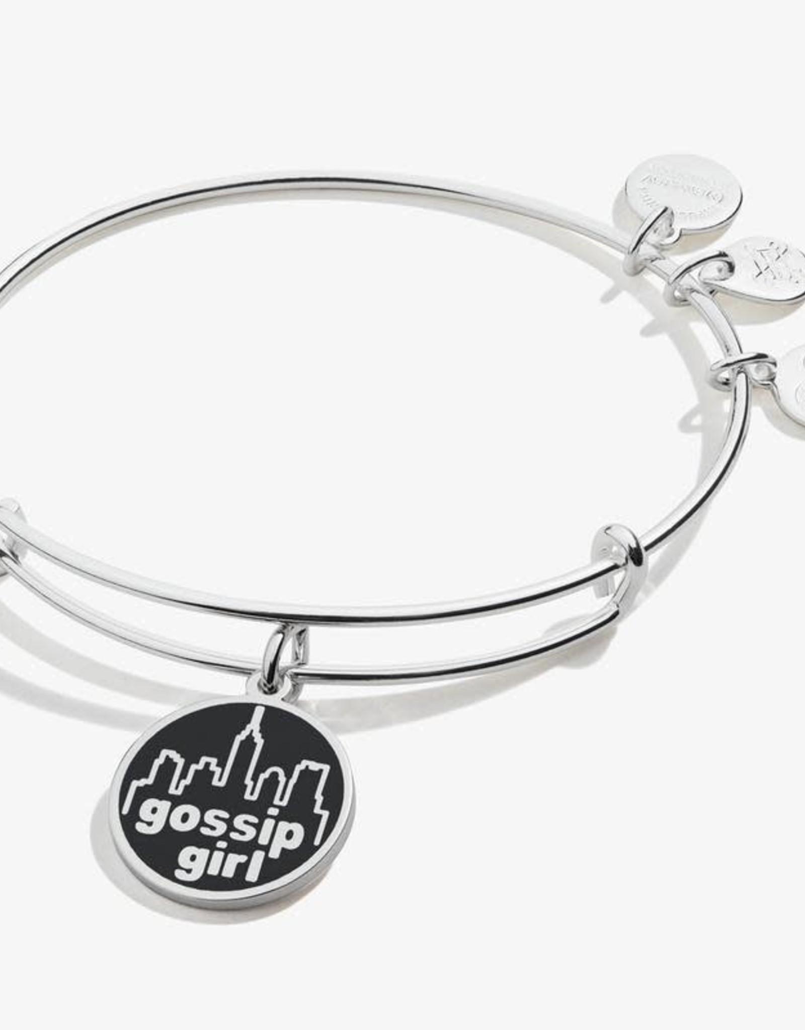 Alex and Ani Gossip Girl Logo Bangle, Shiny Silver