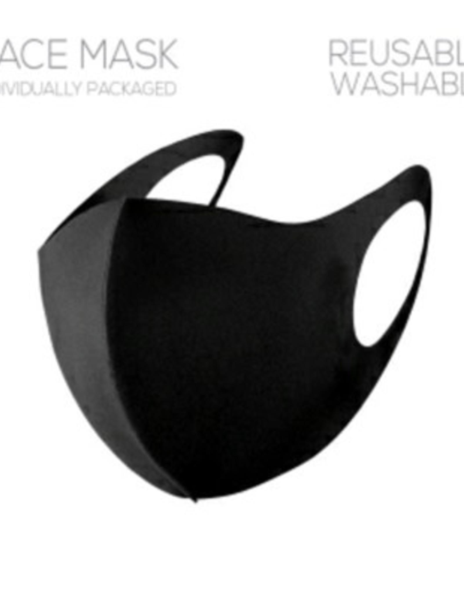 What's Hot Plain Black Face Mask
