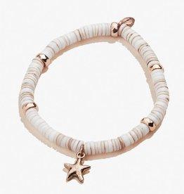 Alex and Ani Starfish Shell Stretch Bracelet, Rose Gold