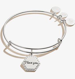 Alex and Ani I Love You 'Then, Now, Always', Shiny Silver
