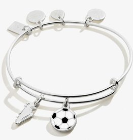 Alex and Ani Team USA Soccer Duo Charm, Shiny Silver