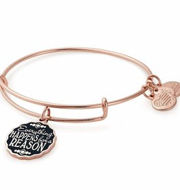 Alex and Ani Everything Happens For A Reason, Shiny Rose Gold