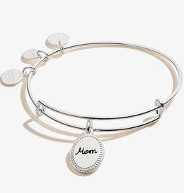 Alex and Ani Mom, 'Bonded By Love' Charm Bangle, Shiny Silver