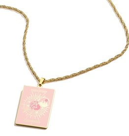 Alex and Ani Harry Potter, Hogwarts Emblem Hufflepuff 26in Adjustable Necklace, Shiny Gold