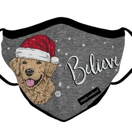 Simply Southern Believe Christmas Puppy Adult Mask