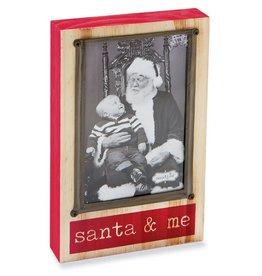 MudPie MudPie, Santa And Me Block Picture Frame