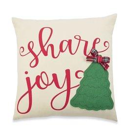 MudPie MudPie, Canvas Applique Tree Pillows